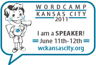 I am a speaker at WordCamp Kansas City!