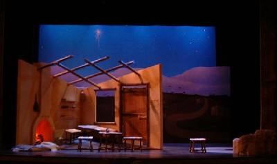 The set for Amahl and the Night Visitors