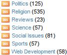 Custom Category/Tag List Screenshot