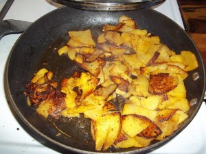 First full batch of fried rutabaga
